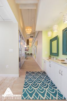 """""""Sandy"""" flooring transports patients right to a beachy atmosphere. Dental Office Design by Arminco Inc."""