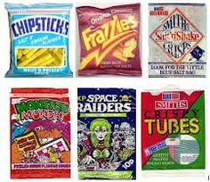 1970s sweets and crisps