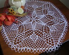 white cotton doily easter crochet round lace placemat napperon centerpiece table topper handmade wedding decor unique birthday eastergift