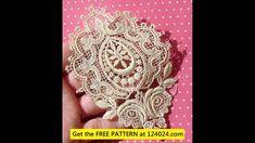 irish crochet lace patterns - YouTube