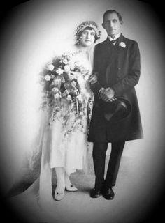 Wedding in Shanghai, Philip Harding Klimanek and Zoia Serjevna Kojevnikova, 1922