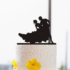Wedding Cake Topper Silhouette Couple-Dancing Cake by DreamsGarden
