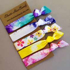 The Penny Hair Tie Collection - 5 Elastic Hair Ties by Elastic Hair Bandz on Etsy