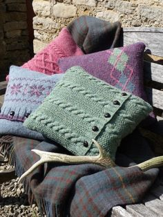 More of my favourite knitted cushions from Coln Valley