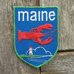Maine Vintage Souvenir Travel Patch from Voyager - New In Original Package by HeydayRoadTrip on Etsy