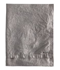 Dark gray. PREMIUM QUALITY. Washed linen tablecloth with double-stitched seam at edges.