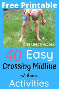 Checkout these crossing the midline activities and FREE PRINTABLE! Also learn strategies that Occupational Therapists use to ensure your Kiddos success! Activities for kids at home. Activities for kids at home learning. Crossing midline. Crossing midline activities. Crossing midline activities for kids. Crossing midline occupational therapy. Crossing midline activities preschool. #crossingmidlineactivities #crossingmidlineactivitiespreschool #crossingmidlineactivitieskids #crossingmidline Vestibular Activities, Occupational Therapy Activities, Exercise Activities, Motor Skills Activities, Mindfulness Activities, Preschool Learning Activities, Brain Activities, Exercise For Kids, Occupational Therapist