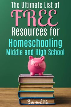 If you are homeschooling middle and/or high school and your budget says you need to supplement your curriculum with some free resources, I think you'll find this list quite helpful. High School Literature, High School Curriculum, Free Homeschool Curriculum, Homeschooling Resources, Teaching Resources, Geography For Kids, Online High School, How To Start Homeschooling, School Resources
