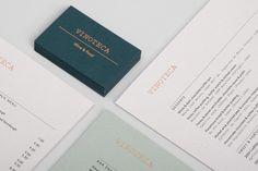 Branding for London restaurant group Vinoteca by British graphic design studio dn&co.