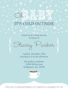 winter baby shower invitation, baby shower invitation. winter, Baby shower invitations