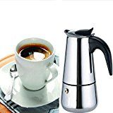 Eachbid Smart applied 2 Cup Stainless Steel Moka Espresso Latte Percolator Stove Top Coffee Maker Pot