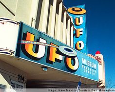 The UFO crash is what made Roswell, NM famous worldwide.  The city has many alien features, including the street lights going down the center of town.