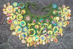🌸 Colar Crochê Gargantilha  Primavera -  /   🌸 Crocheted Necklace Choker Sringtime -