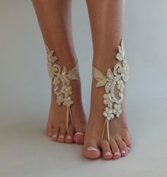 Hoka Women S Shoes Clearance Code: 6885615109 Barefoot Sandals Wedding, Wedding Shoes, Beach Accessories, Clearance Shoes, Bare Foot Sandals, French Lace, Bridal Gifts, Bridesmaid Gifts, Bridal Jewelry