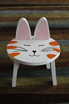 Children's Kitten Step Stool