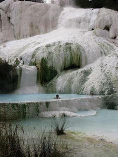 Better than a beach. Fosso Bianco natural hot spring in San Filippo, Southern Tuscany.