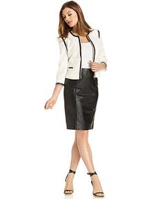 Calvin Klein Suit Separates Collection-Black White and Red - Suits & Suit Separates - Women - Macy's