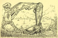 Biorobots no se quejan. Trabajan sin descanso, no piden aumento. tinta sobre papel, 14x21cm, 2013
