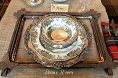 Woodland table setting