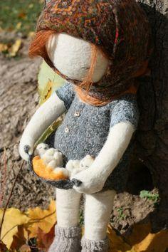 Russian doll maker, Irina Andreeva...dolls made by wet felting.