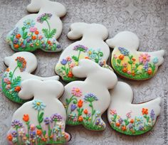 Floral Bunny Cookies