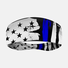 Brushes Thin Blue Line Double-Side Wide Headband