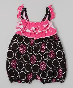 Loving this Black Perfect Circle Ruffle Bubble Bodysuit - Infant on #zulily! #zulilyfinds