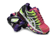 2013 Asics Gel Kinsei 4 Womens Silver Volt Peach Club Purple