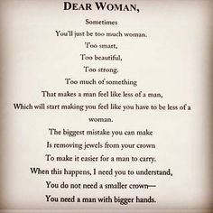 Perfect message for women
