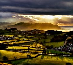 Deganwy and Conwy mountains