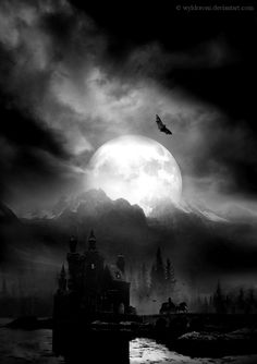 Gothic - mysterious stormy night of the full moon