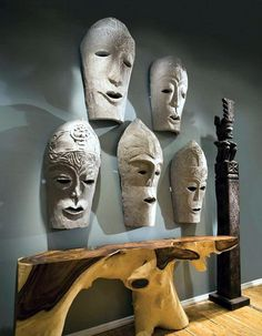Using Art and Crafts in African Decor African Interior Design, African Design, Afro, African Masks, African Art, African Theme, Tribal Trends, Style Africain, African Home Decor
