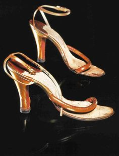Marilyn Monroe's sandals that she wore while performing for the troops in South Korea