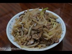 Chinese Noodle Recipe : Stir-fry Silver Needle Noodle with Pork - http://quick.pw/1yg0 #cooking #recipe #food