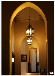 Aswan - Sofitel  - Old Cataract - Golden Decorated Arches and magnificent Andalusian lanterns