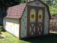 Grandmas painted shed