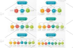 Set of presentation business infographic templates with 3-8 opti. Graphic Design Infographics