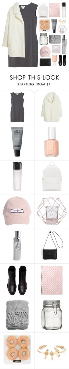 """GONNA BE SOMETHING SWEET"" by elainesabine ❤ liked on Polyvore featuring Monki, MANGO, MAKE UP FOR EVER, Essie, MAC Cosmetics, PB 0110, STONE ISLAND, Bloomingville, Paul's Boutique and H&M"