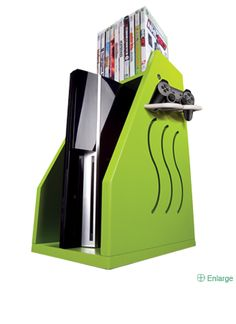 Video Gaming Storage in cool colors
