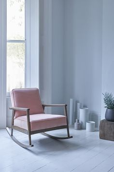 Get carried away by Jemima, our charming mid-century rocking chair. The perfect lazy lounger or pretty nursing chair, Jemima is perfect for living rooms, bedrooms and nurseries.