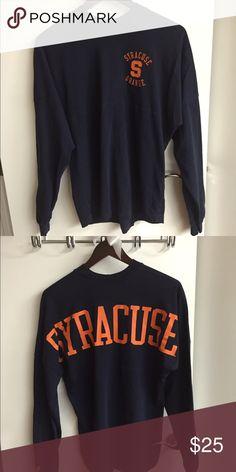 979825aca Syracuse long sleeve shirt Syracuse University long sleeve tshirt. Back of  the shirt says Syracuse
