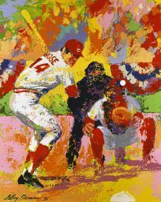 Baseball Art - Pete Rose by Leroy Nieman Baseball Wall, Baseball Posters, Baseball Cards, Baseball Teams, Baseball Stuff, Reds Baseball, American Football, Rodeo, Baseball Pictures