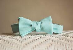 solid mint bowtie
