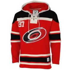 Men s Carolina Hurricanes Old Time Hockey Red Home Lace Heavyweight Hoodie  Hurricanes Hockey 6c83a0a7a