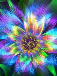 Mandala fractal color art