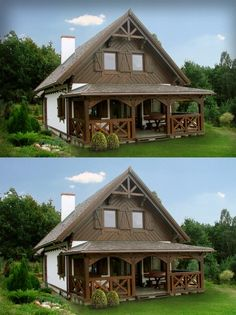 Discover recipes, home ideas, style inspiration and other ideas to try. Village House Design, Village Houses, Casa Patio, Backyard Patio, Timber House, Wooden House, Filipino House, My House Plans, Rustic Doors