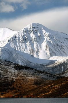 Snow-covered mountain, NZ by NathanaelB, via Flickr