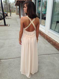 Cream Maxi Dress #swoonboutique