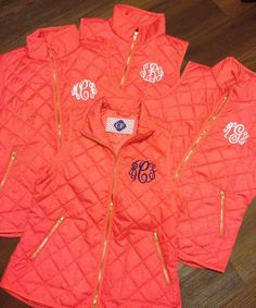 Coral Quilted Monogram Vest