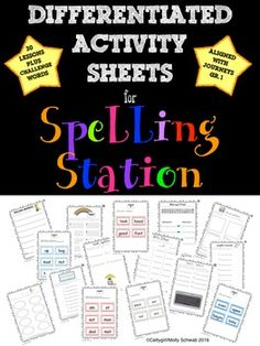 Spelling Centers includes 10 differentiated activities and word cards, aligned with Journeys Reading series, that can be used at your Spelling Station or for homework. The following activities are included:1. Spelling Sentences2. Rainbow Write3. Add and Write4.